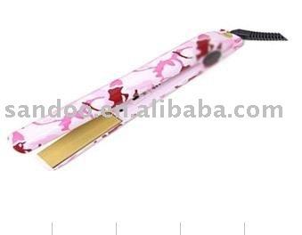 DHL free sample for  Caom pink ceramic hair straightener