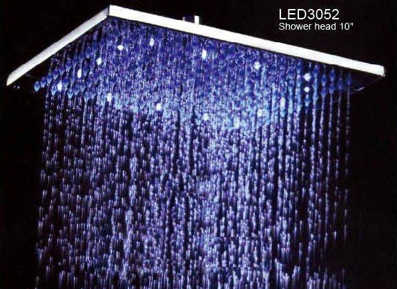 rainfall shower head. Brass LED Rain Shower Head