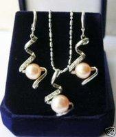 Establecer encantadora rosa cultivada perla collar (China (continental))