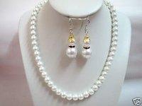 collar de perlas traspasado clip en el sistema del pendiente (China (continental))