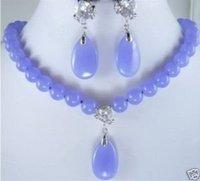 Hermoso colgante de jade púrpura collar pendiente (China (continental))
