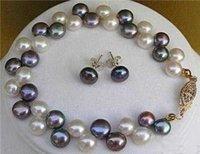 encantador Blanco Negro perla pulsera (China (continental))