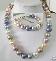 Color de 12 mm Mulriple Shell collar de perlas pulsera (China (continental))