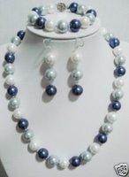 blanco, gris y negro concha de perla Collar / Juegos (China (continental))