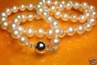 Impresionante 8mm de 7 conjuntos de collar de perlas cultivadas blancas / (China (continental))