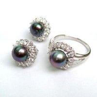 negro perla tamaño del anillo: 8 # (China (continental))