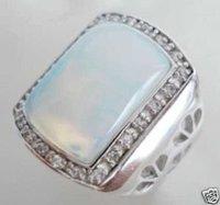anillo blanco ópalo de cristal de los hombres 10 # / Ringe (China (continental))