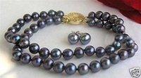 Boda joyería Negro brazalete de perlas pendientes (China (continental))