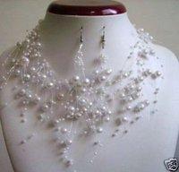Joyería Collares de Perlas Blancas Aretes / Juegos (China (continental))