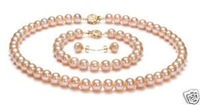 7-8mm Pink Pearl earringsEarrings Collar (China (continental))