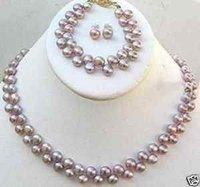 Collar de perlas cultivadas Pulseras Pendientes Conjuntos (China (continental))