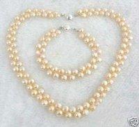 Mar del Sur ROSA collar de perlas de conjuntos de pulsera (China (continental))