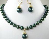 Negro elegante collar de perlas colgante pendiente (China (continental))