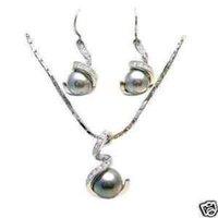 negro concha perla colgante collar conjunto (China (continental))
