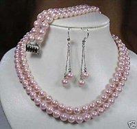 Establece perlas cultivadas collar pulsera pendientes / (China (continental))