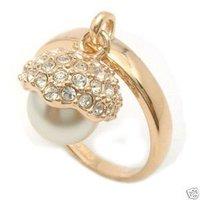 Bella señorita Blanca concha de perla anillo ringe (China (continental))
