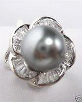 Hermoso anillo de concha de perla gris / Ringe (China (continental))
