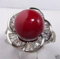 Rojo hermoso anillo de concha de perla / Ringe (China (continental))