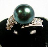 Casa de negro concha de perla tamaño del anillo 8 (China (continental))