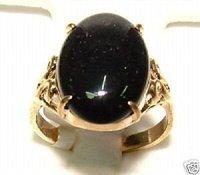 Exquisita NEGRO anillo de jade 8 # / Ringe (China (continental))