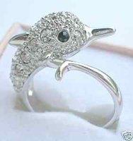 Hermoso delfín whitegold señora anillo Ringe (China (continental))