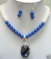 Pendiente hermosa perla colgante collar (China (continental))
