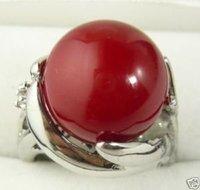 exquisito rojo concha de perla tamaño del anillo 8 # (China (continental))