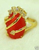Mujer con Encanto anillo cristal rojo (China (continental))