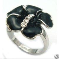 ¿Quieres joyería de plata 925 Negro flores vestir CZ Anillo (China (continental))