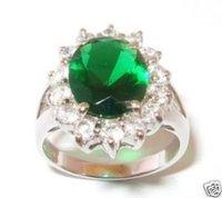 tibet plata verde tamaño del anillo de cristal :7-9 Ringe (China (continental))