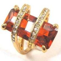rojo cz piedra joyería anillo (China (continental))