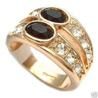 Joyería rojo circón blanco diamante del anillo / Ringe (China (continental))