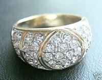 Blanco espumoso, los amarillos del anillo Tamaño: 7 8 9 (China (continental))