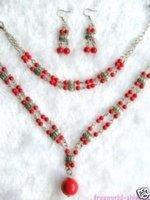 Pendientes de coral encantador collar pulsera (China (continental))