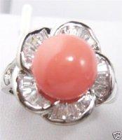 Rosa coral rosa anillo de tamaño 7,8,9 Ringe (China (continental))