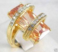 Anillo de diamantes blancos nobleza Artesanía Opal dama (China (continental))