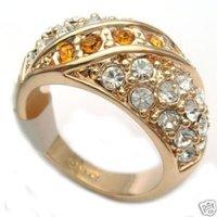 Hermosa incrustaciones de diamantes de imitación maravilloso anillo de 8-10 (China (continental))