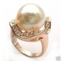 Hermosa joyería maravilloso golpe de suerte Shell Pearl Ring (China (continental))