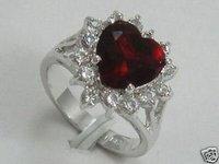 Hermosa jade anillo rojo de joyería (China (continental))