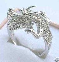 Hermoso anillo de plata tibet impresionante dragón de los hombres 7 # # -9 (China (continental))