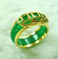 Hermosa Jade Verde moda anillo (China (continental))