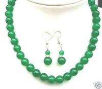 Collar de cuentas de jade verde y aretes (China (continental))