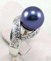 Casa de concha de perla azul tamaño del anillo delicado: 7 # # -9 (China (continental))