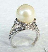 Vogue conchas blancas de joyería de perlas anillo de tamaño de 7 a 9 # Ring (China (continental))