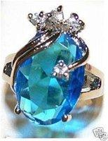 Hermoso compromiso de la boda blaue Citrin Ring (China (continental))