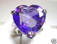 Hermoso anillo de perla púrpura de cristal 7-9 (China (continental))