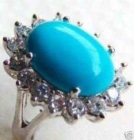 ¿Quieres tibet maravilloso anillo de color azul turquesa # 7.9 (China (continental))