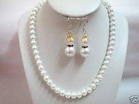 Collar de perlas de imitación muñeco de nieve atravesado clip de aretes (China (continental))