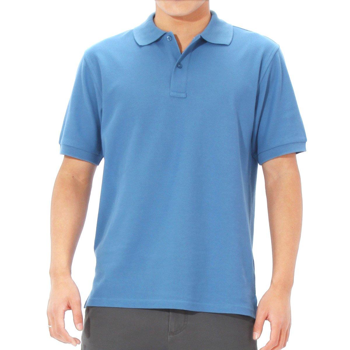 Free shipping cotton pique men 39 s short sleeve polo shirts for Order custom polo shirts