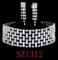 rhinestone jewelry sets , crystal necklace free shipping SZ1312